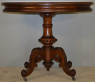 17830 Victorian Unusual Inlaid Oversize Parlor Stand