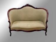 SOLD Antique Victorian Civil War Era Hand Carved Sofa