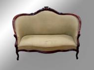 SOLD Antique Victorian Civil War Era Hand Carved Sofa