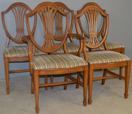 SOLD Set of 5 Mahogany Shield Back Dining Room Chairs – Hepplewhite