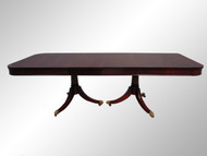 SOLD Mahogany Duncan Phyfe Dining table w/2 Skirted Leaves