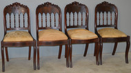 18644 Set of 4 Period Empire Flame Mahogany Chairs