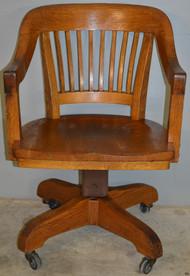 18684 Oak Barrel Seat Jurors Office Chair