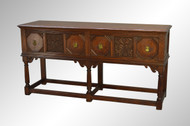 SOLD Gothic Style Carved Oak Credenza