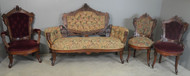SOLD Four Piece Burl Walnut Victorian Parlor Set – Jenny Lind Heads