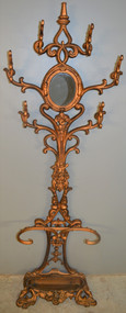 SOLD Victorian Cast Iron Umbrella Hall Tree with Flowers