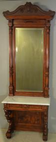 18680 Marble Top Victorian Pier Mirror