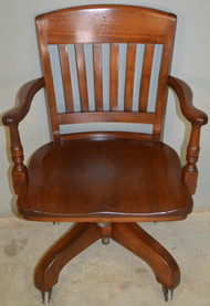 18648 Walnut Swivel Tilt Lawyers Bankers Office Chair