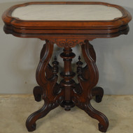 SOLD Victorian Marble Top Picture Frame Parlor Stand