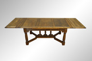 SOLD Carved Oak Drawer Leaf Computer Table / Banquet Table