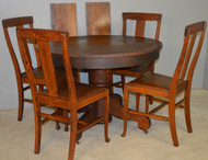 SOLD Oak Dining Room Set – 4 Chairs & Dining Table Extra Clean Original