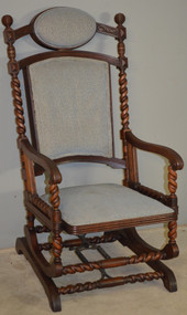 SOLD Victorian Platform Rocker by Hunzinger