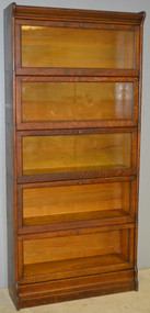 SOLD Unusual Oak Bookcase