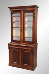 SOLD Antique Victorian Step Back Cupboard