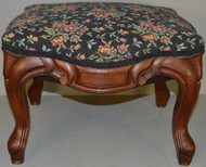 SOLD Victorian Carved Shapely Footstool