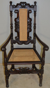 18716 Carved Master Throne Chair