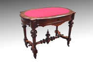 SOLD Antique Victorian Burl Walnut Writing Table Ladies Desk
