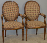 18719 Pair of French Arm Chairs