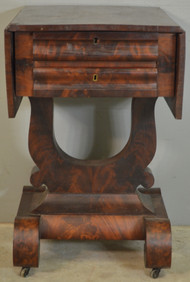 18720 Empire Flame Mahogany Drop Leaf Sewing Stand