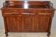 18721 Period Empire Flame Mahogany Sideboard