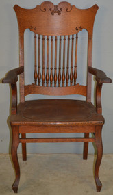 18726 Oak Carved Arm Chair