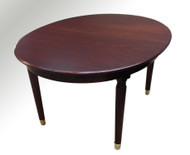 SOLD Mahogany Oval Banquet Table 10 Feet Long