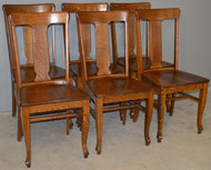 SOLD  Set of Victorian Oak Dining Chairs – 1900's