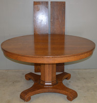 18739 Round Oak Empire Split Base Banquet Dining Table