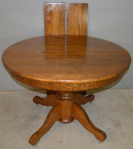 "SOLD Victorian 42"" Round Dining Table with 2 Leaves"