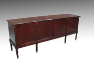 SOLD Oversize Mahogany Sheraton Four Door Sideboard / Credenza