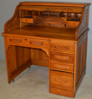 SOLD Oak Ladies Roll Top Desk