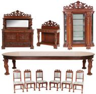 19876 Horner 10 Piece Mahogany Dining Room Set