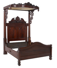 SOLD Victorian Canopy Walnut Bed
