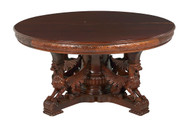 19880 R.J. Horner Carved Banquet Mahogany Dining Table