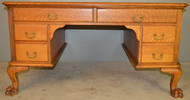 SOLD Oak Claw Foot Victorian Desk