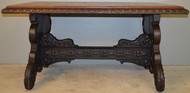 18767 Carved Oak Library Table Writing Desk