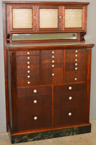 SOLD Mahogany Dentist Dental Cabinet Frosted Glass