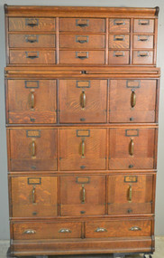 SOLD Oak Sectional Stacking File Cabinet