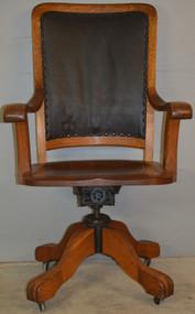 18808 Oak Victorian Lawyers Judges Office Chair