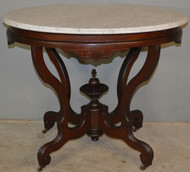 18826 Oval Victorian Marble Top Parlor Stand