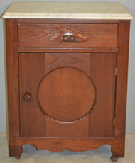18919 Victorian Marble Top Half Commode