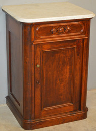 SOLD Victorian Marble Top Half Commode