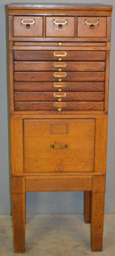 SOLD Oak Sectional File Cabinet – Library Bureau Sole Makers