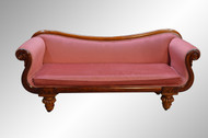 SOLD Antique Empire Rolled Arm Country Sofa