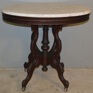 18824 Oval Marble Top Parlor Stand