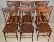 18892 Set of 6 American Press Back Chairs Original Finish