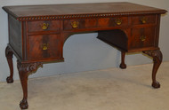 18752 Mahogany Flat Top Ball and Claw Writing Desk