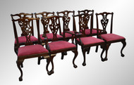 SOLD Set of 8 Ball and Claw Chippendale Dining Chairs