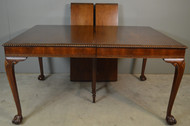 18909 Chippendale Ball and Claw Dining Table with Rope Carved Edges