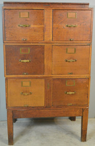 18920 Oak Sectional File Cabinet by Library Bureau Sole Makers